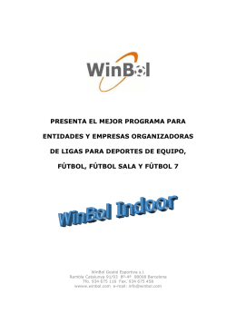 Folleto WinBolIndoor