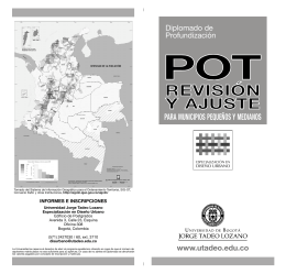 Folleto Revision POT SG - Universidad de Bogotá Jorge Tadeo