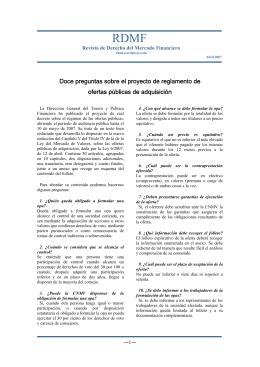Doce preguntas sobre el proyecto de reglamento de ofertas