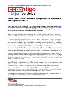 Bankia cambia el folleto de salida a Bolsa para colocar más