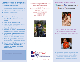 CSHCN brochure--final Spanish.pmd