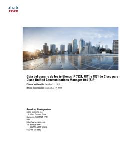 Guía del usuario de los teléfonos IP 7821, 7841 y 7861 de Cisco