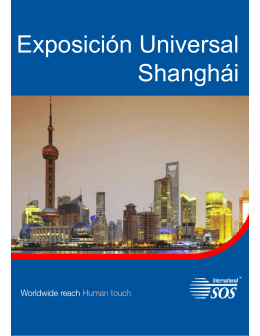 folleto Exposición Universal de Shangai International SOS