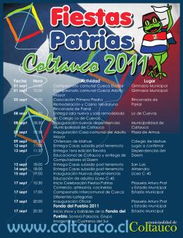 folleto fiestas patrias 2011
