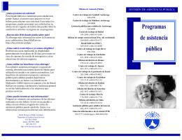 Programas de asistencia pública