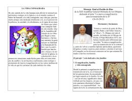 Mensaje final al Pueblo de Dios de la XIII
