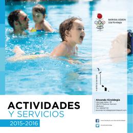 Actividades y servicios del polideportivo 2015-2016