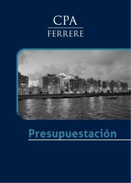 Folleto Presupuestacion CPA Ferrere Baja