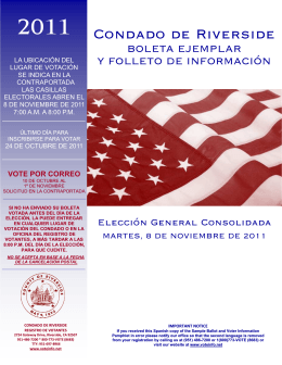 Muestra de Balota - Riverside County Registrar of Voters
