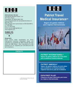Patriot Travel Medical InsuranceSM