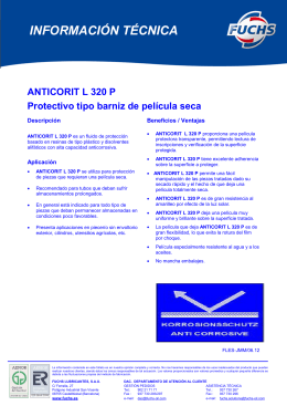 anticorit l 320 p - Fuchs Lubricantes