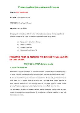 Propuesta didáctica: cuaderno de tareas FORMATO PARA EL