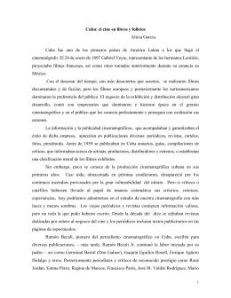 Cuba: el cine en libros y folletos Alicia García