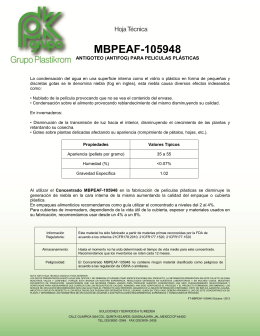 MBPEAF-105948 Antigoteo (antifog) para peliculas plásticas