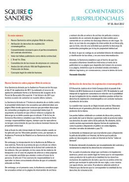 COMENTARIOS JURISPRUDENCIALES
