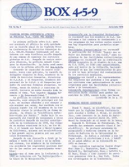 Box 459 - Junio-Julio 1979 - Vigésima Novena Conferencia
