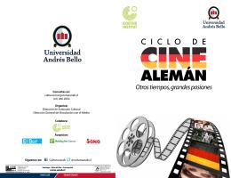 Ciclo de Cine Alemán - Dirección de Vinculación con el Medio | UNAB