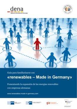 «renewables – Made in Germany»