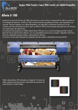 Allwin E-180 - Moras ||||| Tecnología para la Industria Gráfica