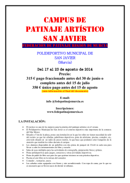 CAMPUS DE PATINAJE ARTÍSTICO san Javier