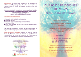 CURSO DE FRICCIONES RITMICAS