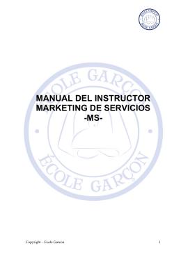 MANUAL DEL INSTRUCTOR MARKETING DE SERVICIOS -MS-