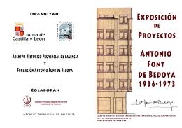 Folleto Antonio Font de Bedoya - Portal de Archivos de Castilla y León