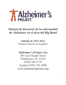 Pagina de Portada - Alzheimer`s Project