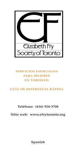 Teléfono: (416) 924-3708 Sitio web