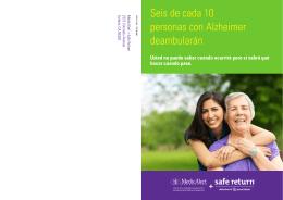 Seis de cada 10 personas con Alzheimer deambularán