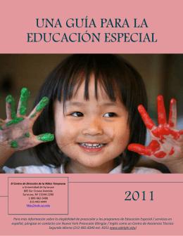 UNA GUÍA PARA LA EDUCACIÓN ESPECIAL
