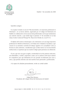Carta Folleto informativo