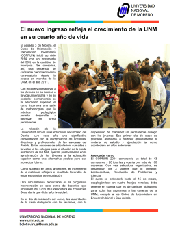 gacetilla - Universidad Nacional de Moreno