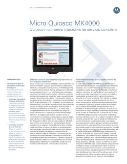 Quiosco multimedia interactivo de servicio completo MK4000 Micro