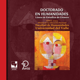 Folleto - Doctorado En Humanidades
