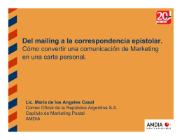 Marketing Directo Postal