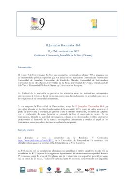 Jornadas doctorales G-9 Extremadurax