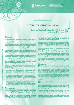 master nutricion animal - IAMZ Mediterranean Agronomic Institute of