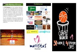 Folleto Campus Baloncesto 2015