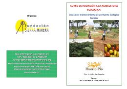 Folleto del curso - Fundación Sierra Minera