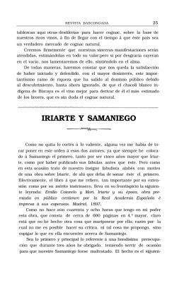 IRIARTE Y SAMANIEGO