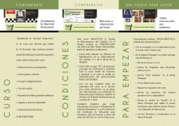 CURSO CONDICIONES P ARA EMPEZAR