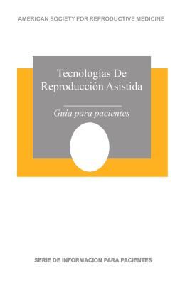 Tecnologías De Reproducción Asistida