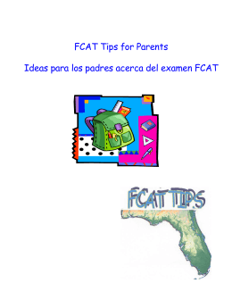 FCAT Tips for Parents (Spanish English) updated and corrected.pub