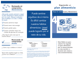 plan alimenticio - Diabetes Initiative