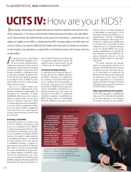 UCITS IV:How are your KIDS?