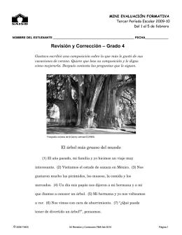 Revisión y Corrección – Grado 4