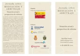 folleto jornadas - Colegio de abogados de Zaragoza