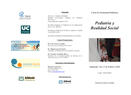 Folleto curso Pediatria y Realidad Social.ps [ 1 ], page 1 @ Preflight