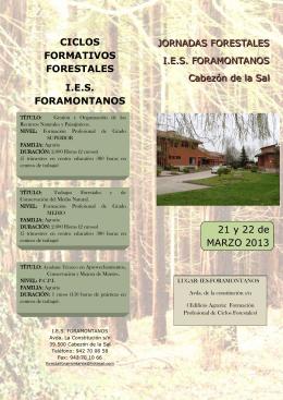 Folleto Jornadas Forestales